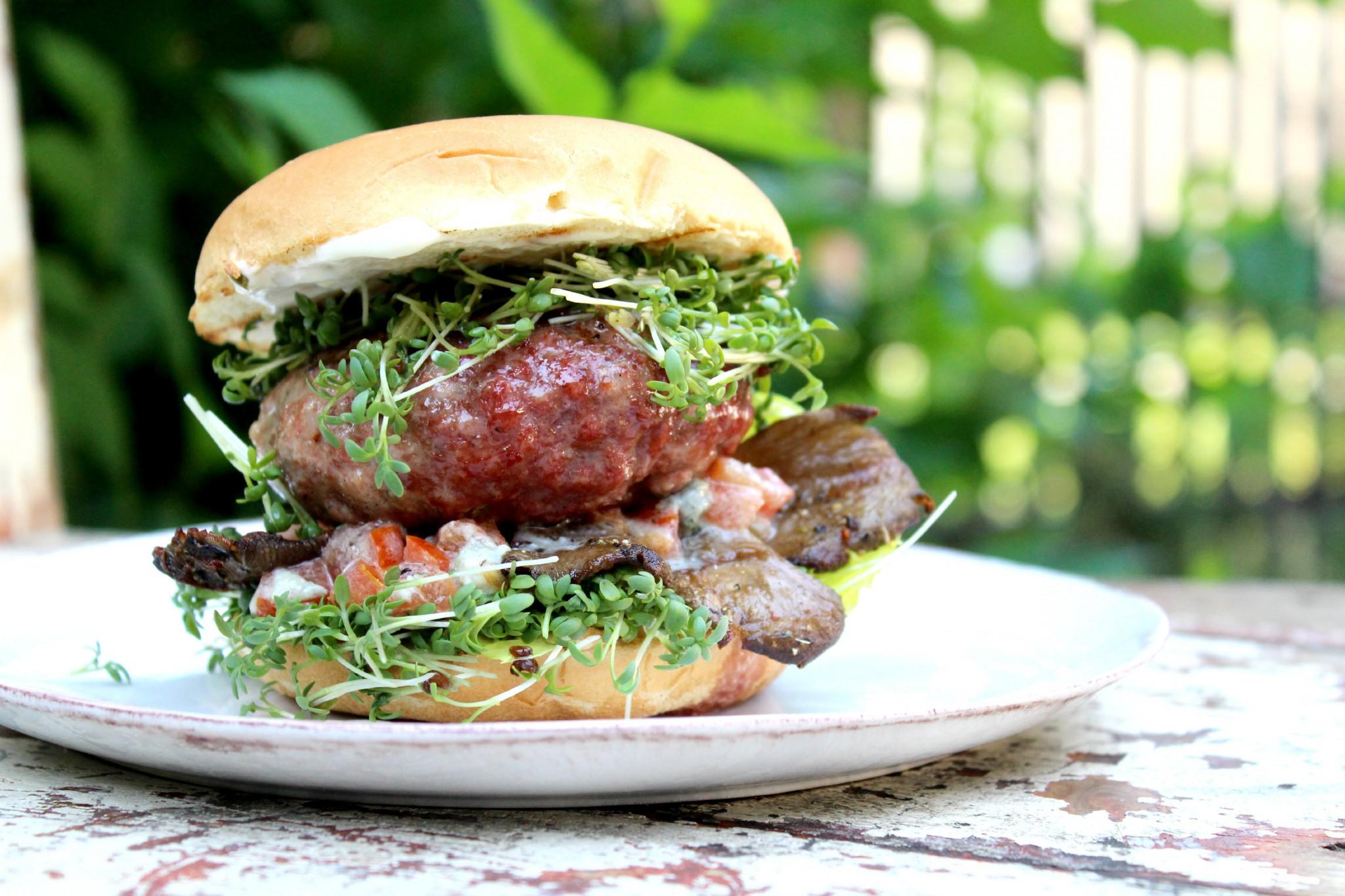 burger s hlívou