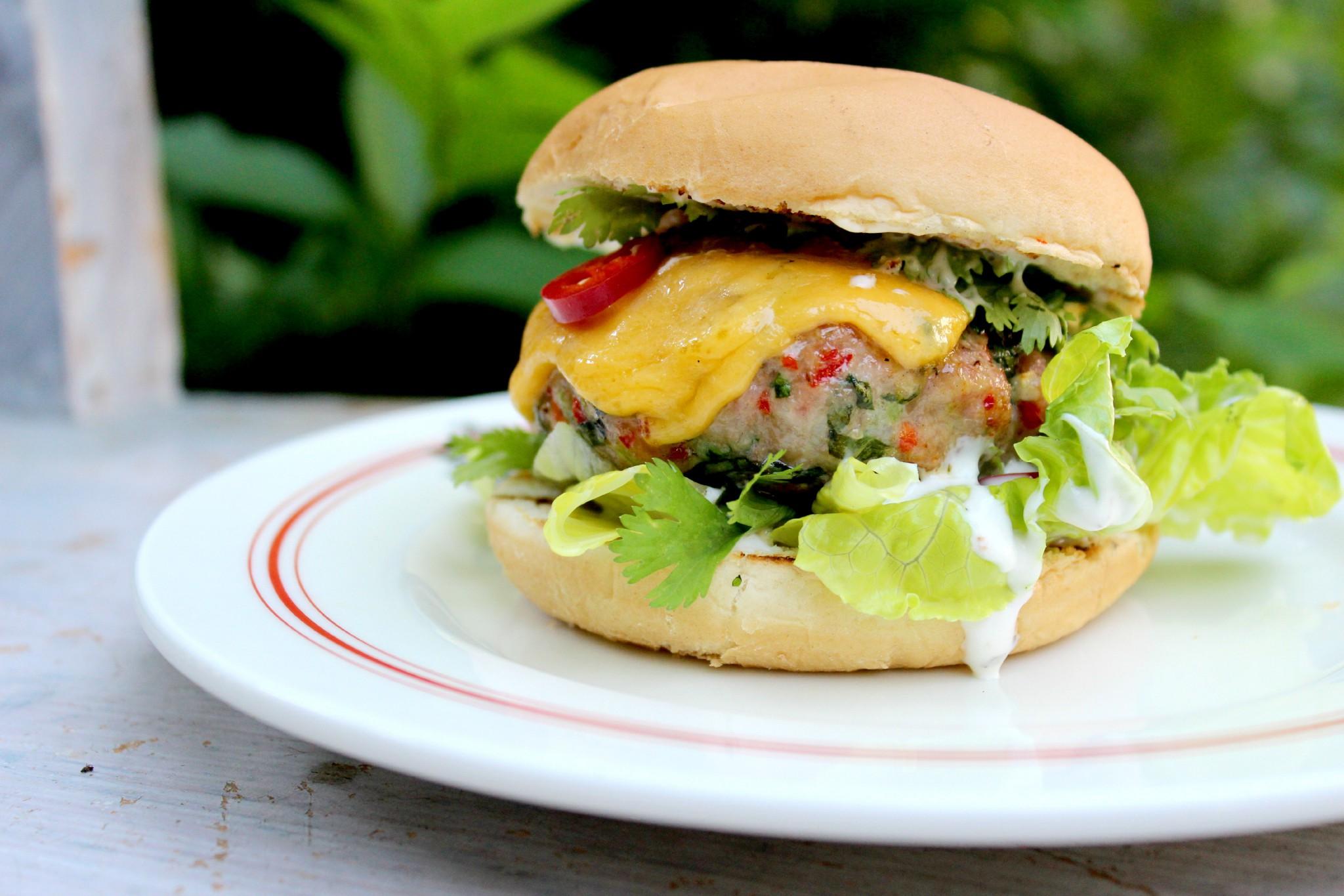 vepřový burger