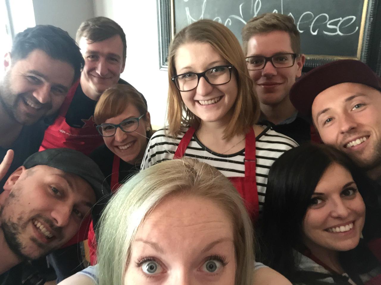 natáčení Vaříme společně selfie