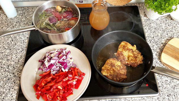 kuře na paprice příprava 2