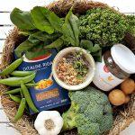 Zelená minestrone - suroviny